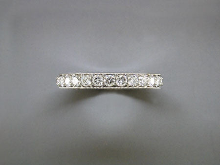 DIAMOND ETERNITY RING WITH MILLGRAIN EDGE