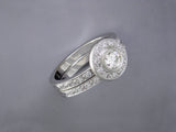 DIAMOND PAVE SET PARTIAL ETERNITY RING & ENGAGEMENT RING
