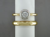 DIAMOND RING IN PLATINUM AND 14K YELLOW GOLD