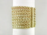 16-STRAND YELLOW GOLD BRACELET