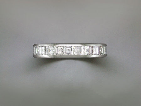 SQUARE CUT DIAMOND ETERNITY RING