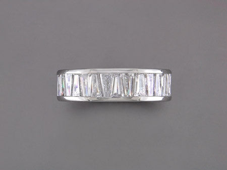 DIAMOND TAPERED BAGUETTE ETERNITY RING
