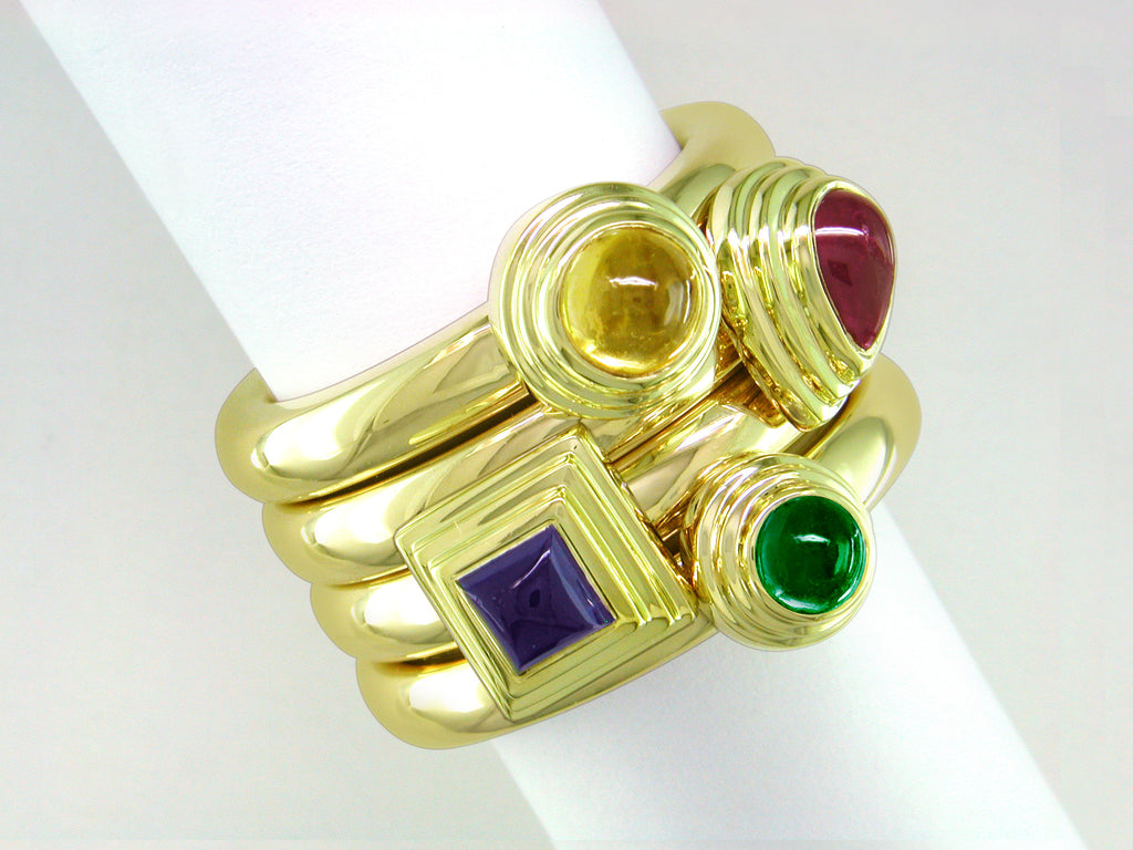 CABOCHON STACKING RINGS