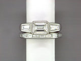 BAGUETTE DIAMOND & WHITE GOLD ETERNITY RING SET