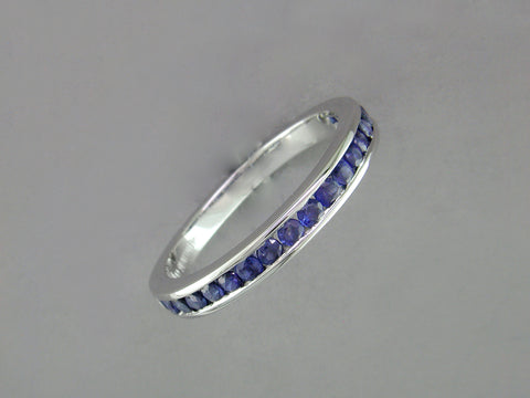 SAPPHIRE PARTIAL ETERNITY RING