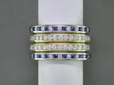 DIAMOND & SAPPHIRE ETERNITY RING SET
