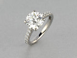 DIAMOND & PAVE RING IN PLATINUM