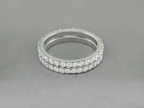 DIAMOND MICROPAVE ETERNITY RING SET