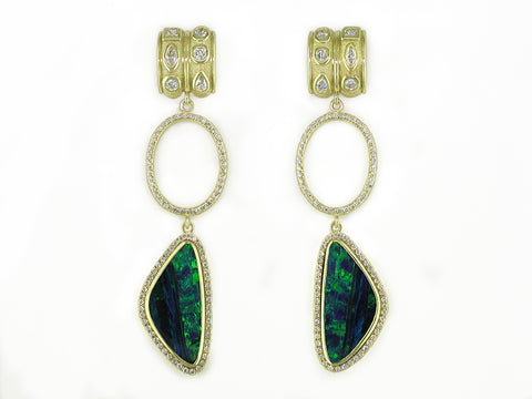 DIAMOND & OPAL EARRINGS