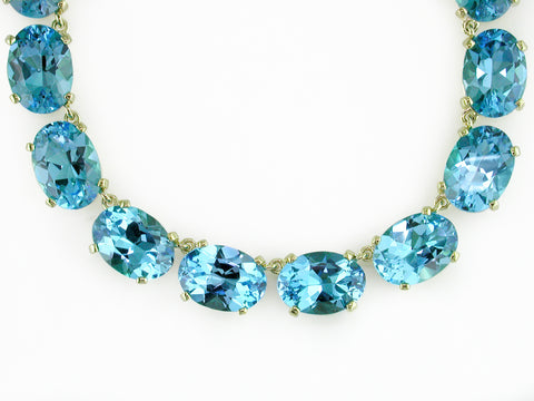 BLUE TOPAZ COLLET NECKLACE