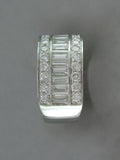 BAGUETTE & ROUND DIAMOND PARTIAL ETERNITY RING