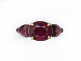 OVAL & PEAR SHAPE RUBY RING