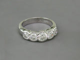 DIAMOND 5-STONE WHITE GOLD RING