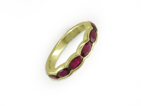 OVAL RUBY PARTIAL ETERNITY RING