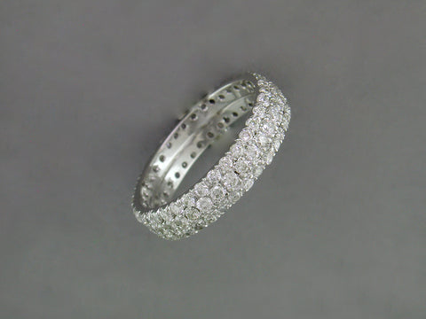 3 ROW DIAMOND MICROPAVE RING