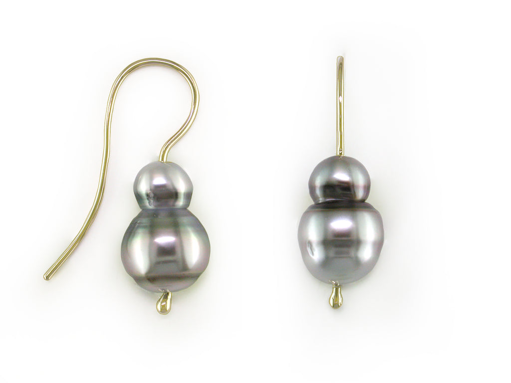 GREY SOUTH SEA PEARL EARRINGS