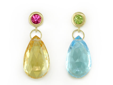 FOUR COLOR BRIOLETTE DROP EARRINGS