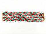 6-STRAND TURQUOISE & CORAL BRACELET