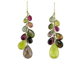 TOURMALINE PEAR SHAPE BRIOLETTE DROP EARRINGS