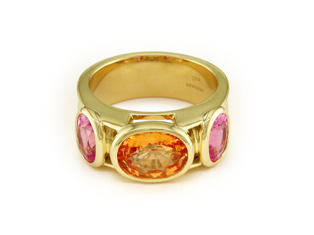 APRICOT & PINK SAPPHIRE RING