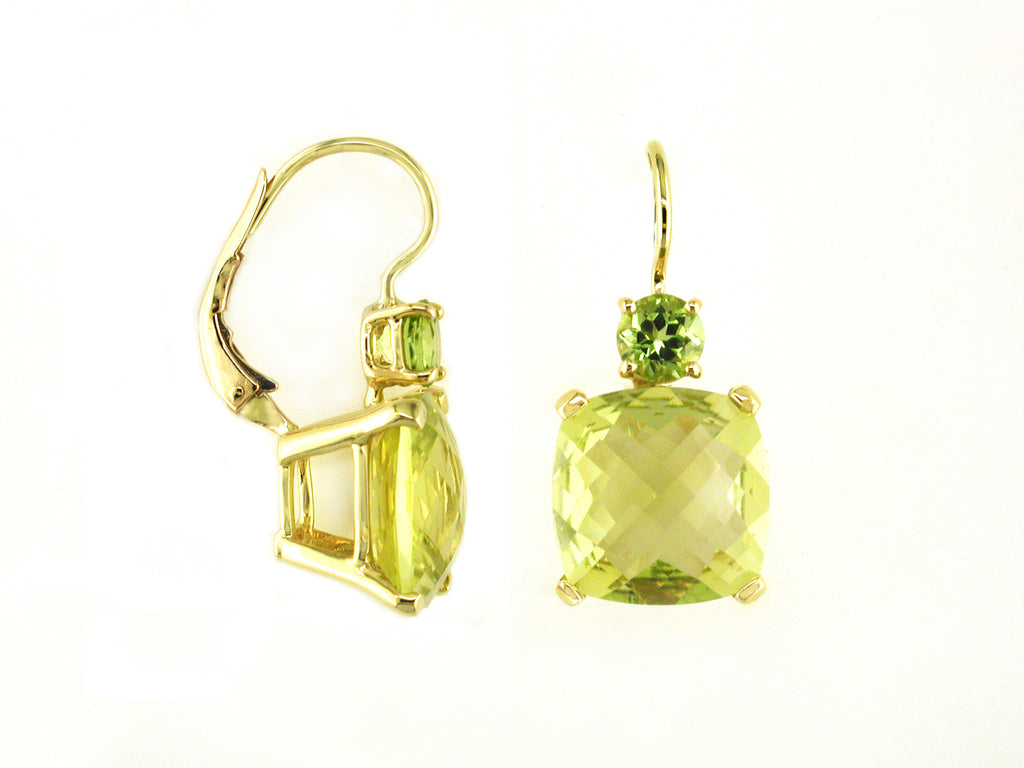 LEMON CITRINE & PERIDOT EARRINGS