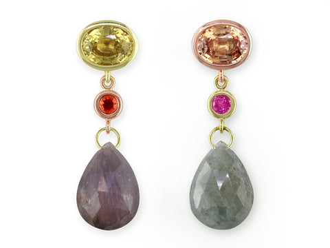 SIX COLOR BRIOLETTE DROP EARRINGS