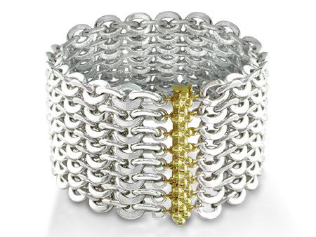 8-STRAND SILVER CABLE CHAIN BRACELET