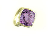 AMETHYST & DIAMOND PAVE RING
