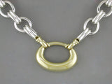 SILVER NECKLACE WITH GOLD LINKS