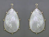MOTHER OF PEARL & DIAMOND EARRINGS