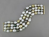 4-STRAND SOUTH SEA PEARL BRACELET