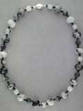 TOURMALATED QUARTZ & BLACK ONYX NECKLACE