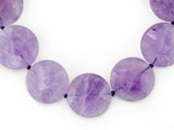 LARGE AMETHYST LENTIL NECKLACE