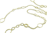 CABLE CHAIN & MULTI-SHAPE LINK NECKLACE