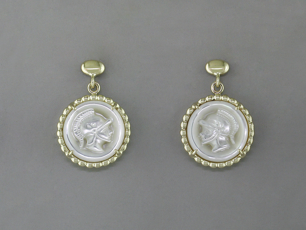 WHITE INTAGLIO EARRINGS