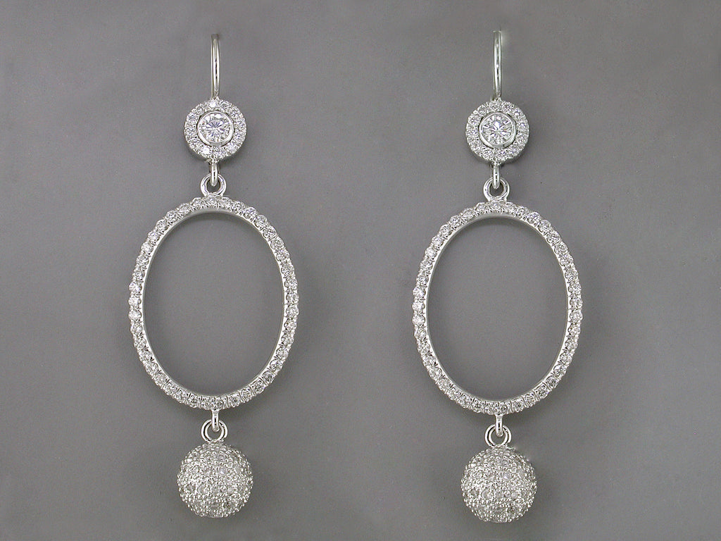 DIAMOND PAVE EUROWIRE EARRINGS