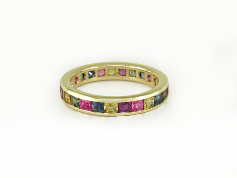 MULTICOLOR SAPPHIRE ETERNITY RING