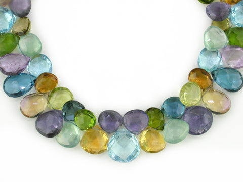MULTISTONE NECKLACE IN PASTEL TONES