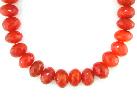CARNELIAN RONDEL NECKLACE