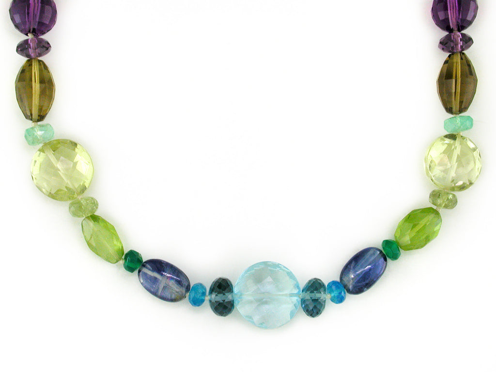 LENTIL MULTISTONE NECKLACE