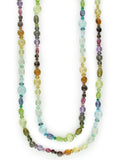 LONG LENTIL MULTISTONE NECKLACE