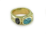 BLUE ZIRCON & SPINEL RING