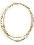 VICTORIAN YELLOW & PINK GOLD CHAIN
