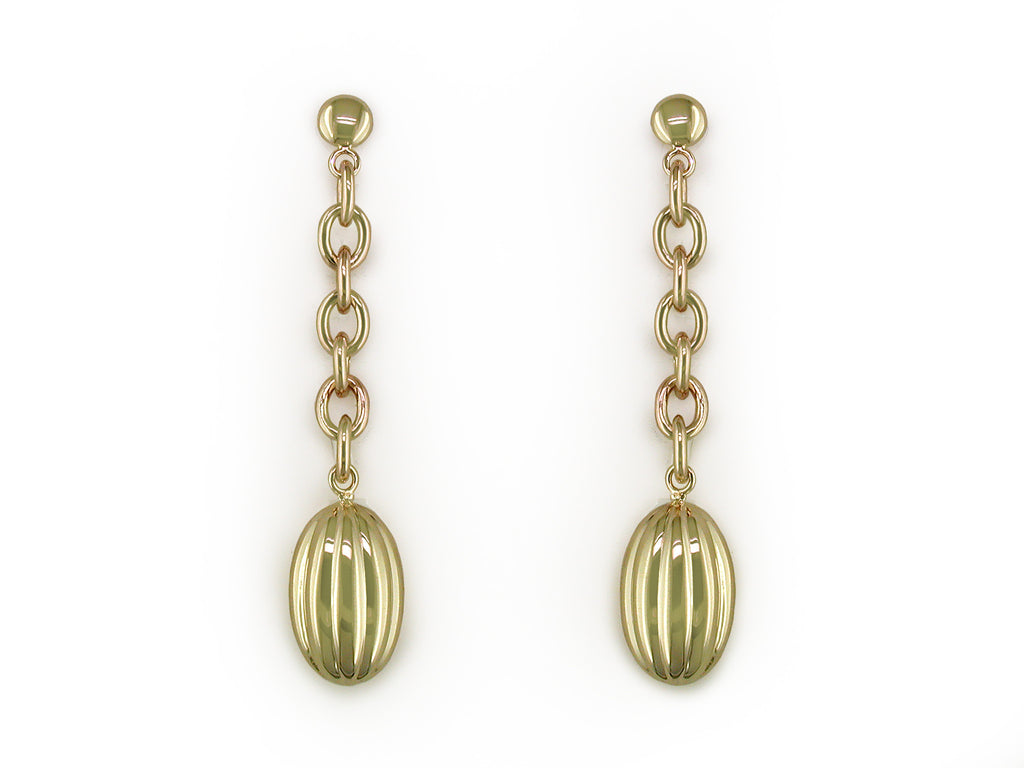 YELLOW GOLD EARRINGS WITH VINTAGE DROPS