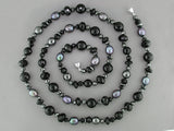 HEMATITE, BLACK ONYX & PEARL NECKLACE