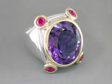 AMETHYST & RUBY RING