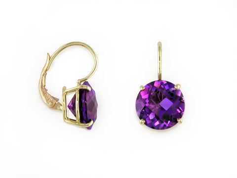 AMETHYST EUROWIRE EARRINGS