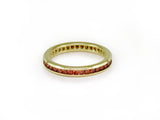 ORANGE DIAMOND ETERNITY RING