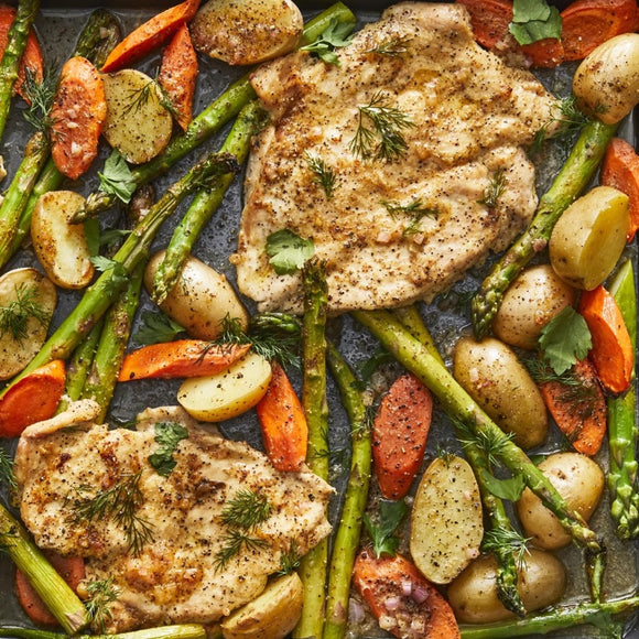 One Pan Chicken & Asparagus Bake