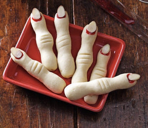 Creepy Shortbread Witch Finger Cookies